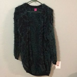 New Save the Queen fuzzy open cardigan s/m